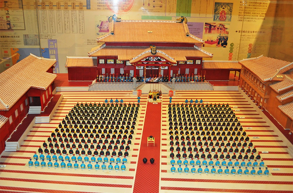 Model Of Shuri Castle Ryukyu Days
