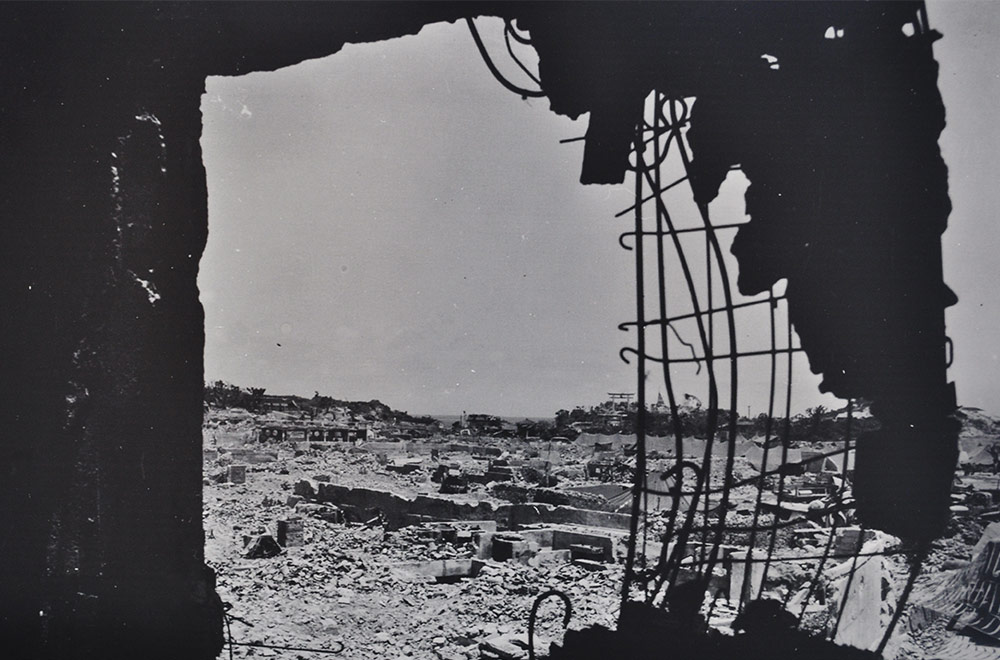 Destruction In The War Okinawa