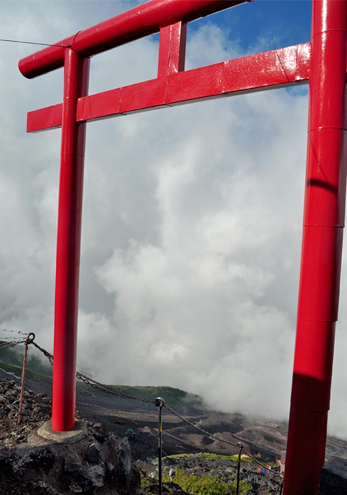 Mt.fuji Red Torii Gate